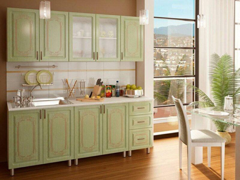 Кухонный гарнитур с фотопечатью «Прима» 2,0 метра Люкс