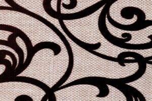Elegance Beige (вензеля). Флок на рогожке