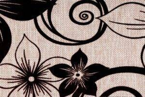 Elegance Beige (цветы). Флок на рогожке