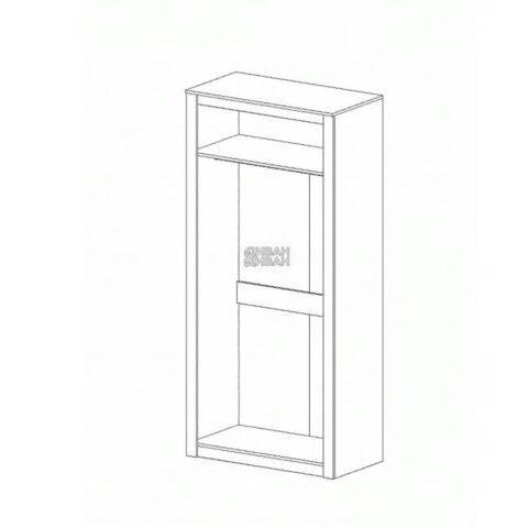 Даллас спальня Шкаф 2-хдверный схема