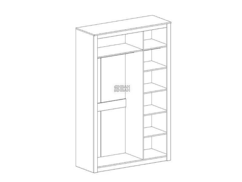 Даллас спальня Шкаф 3-хдверный схема