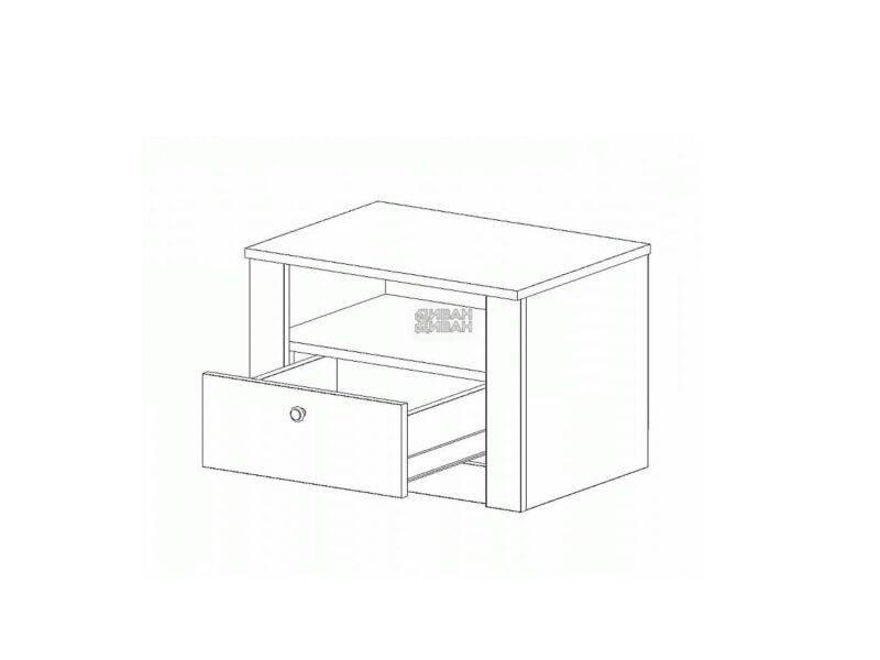 Даллас спальня Тумба с ящиком схема