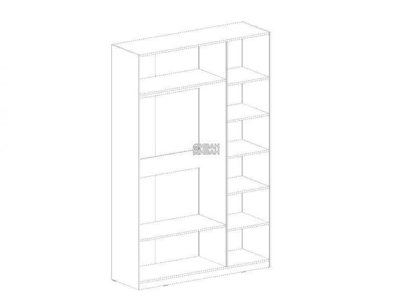 Глазго спальня Шкаф 3 двери схема