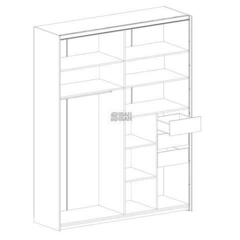 Глазго спальня Шкаф 2 двери схема