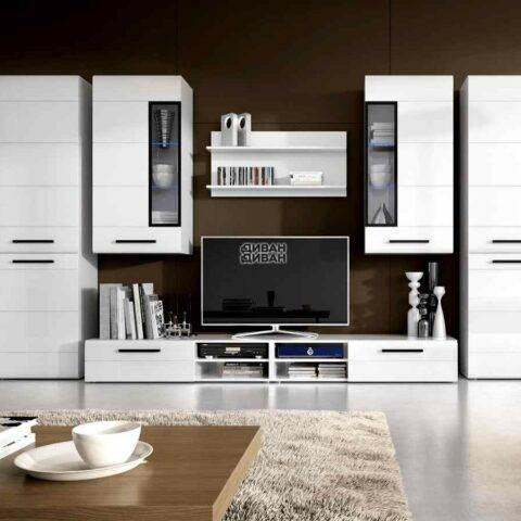 комплект мебели кёльн Белый Аляска / Белый глянец 2