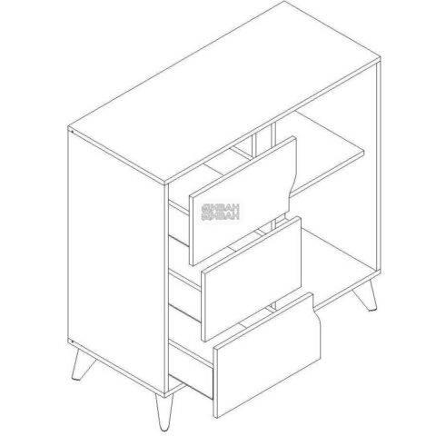 Палмер тумба 3 ящика 1 дверь мбг схема