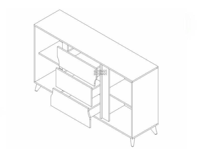 Палмер тумба 3 ящика 2 двери мбг схема