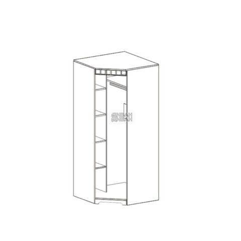 Прованс спальня шкаф угловой схема