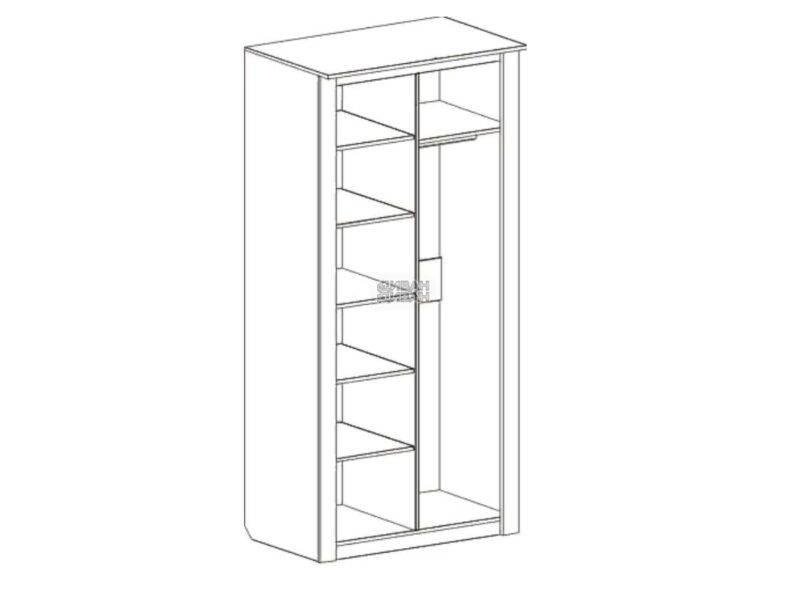 Шкаф 2-дверный Элана мбг схема