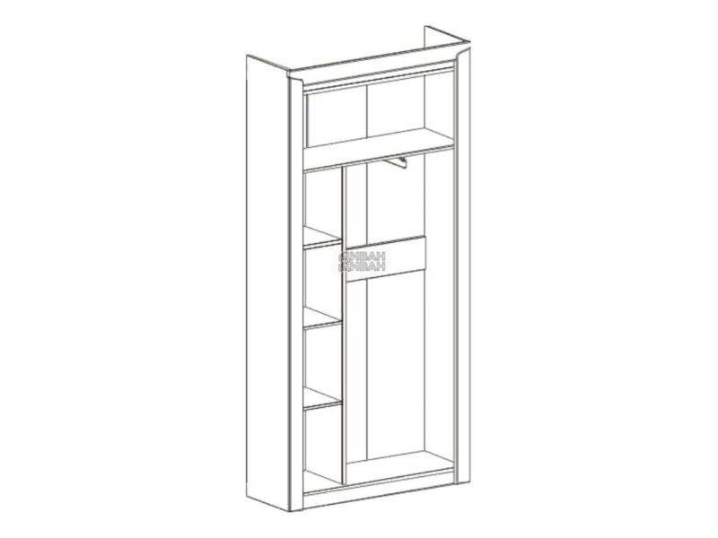 схема 2 дв. шкаф мбг соренто
