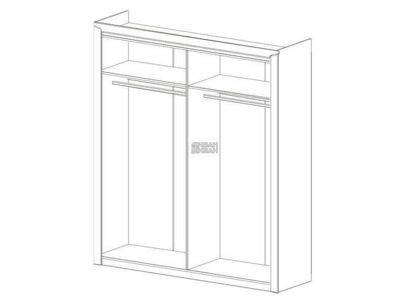 схема 4 дв. шкаф мбг соренто