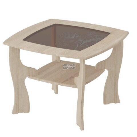 стол журнальный №14 дуб сонома/ель карпатская