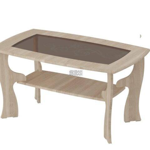 стол журнальный №15 дуб сонома/ель карпатская
