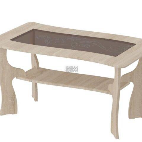 стол журнальный №16 дуб сонома/ель карпатская