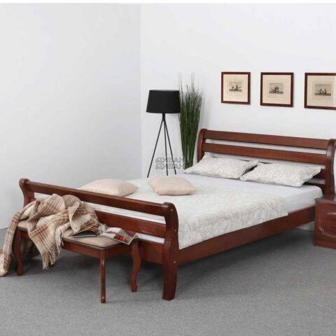 Кровать Аврора Орех светлый 160