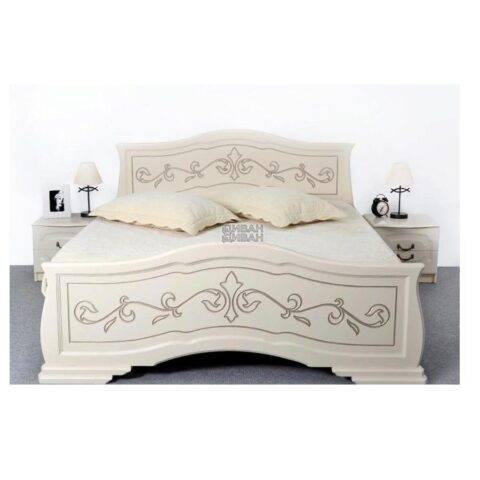 кровать людмила 14 ясень жемчужный с патиной-1
