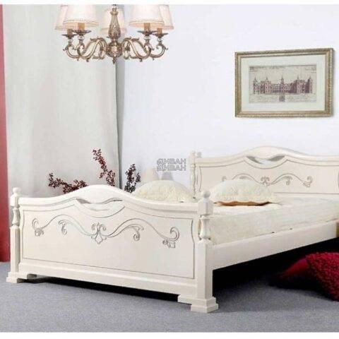 кровать людмила 16 ясень жемчужный с патиной-1