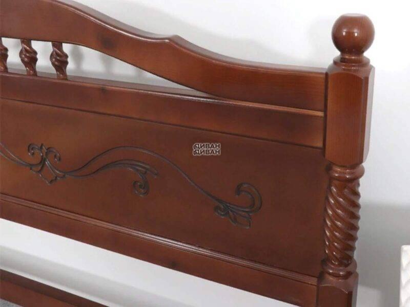кровать людмила 17 орех с патиной-1