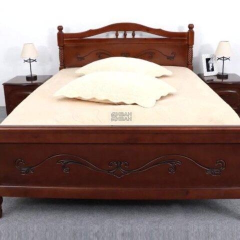 кровать людмила 17 орех с патиной-2