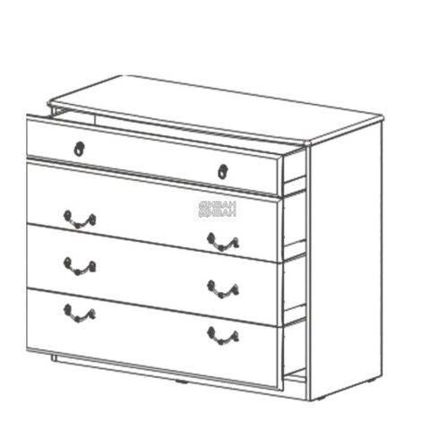 Николь Комод с 4мя ящиками схема