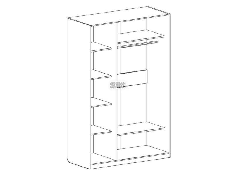 Николь шкаф 3х дверный схема