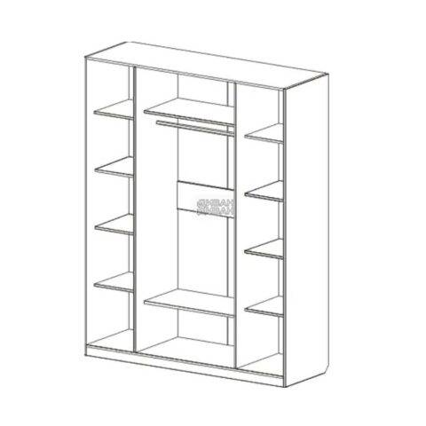 Николь шкаф 4х дверный схема