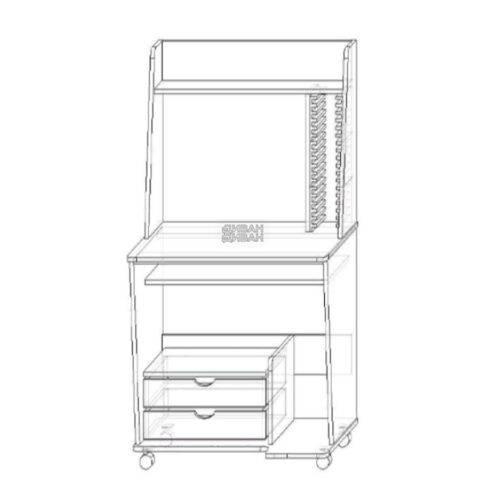 Стол компьютерный 75-схема