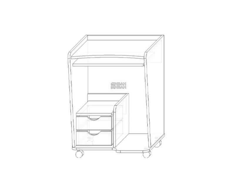 Стол компьютерный 76 схемаjpg